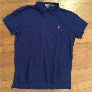Men's Blue Polo Size L